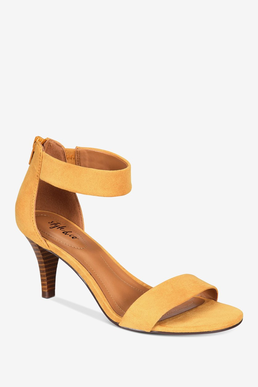 Women's Paycee Two-Piece Dress Sandals, Yellow