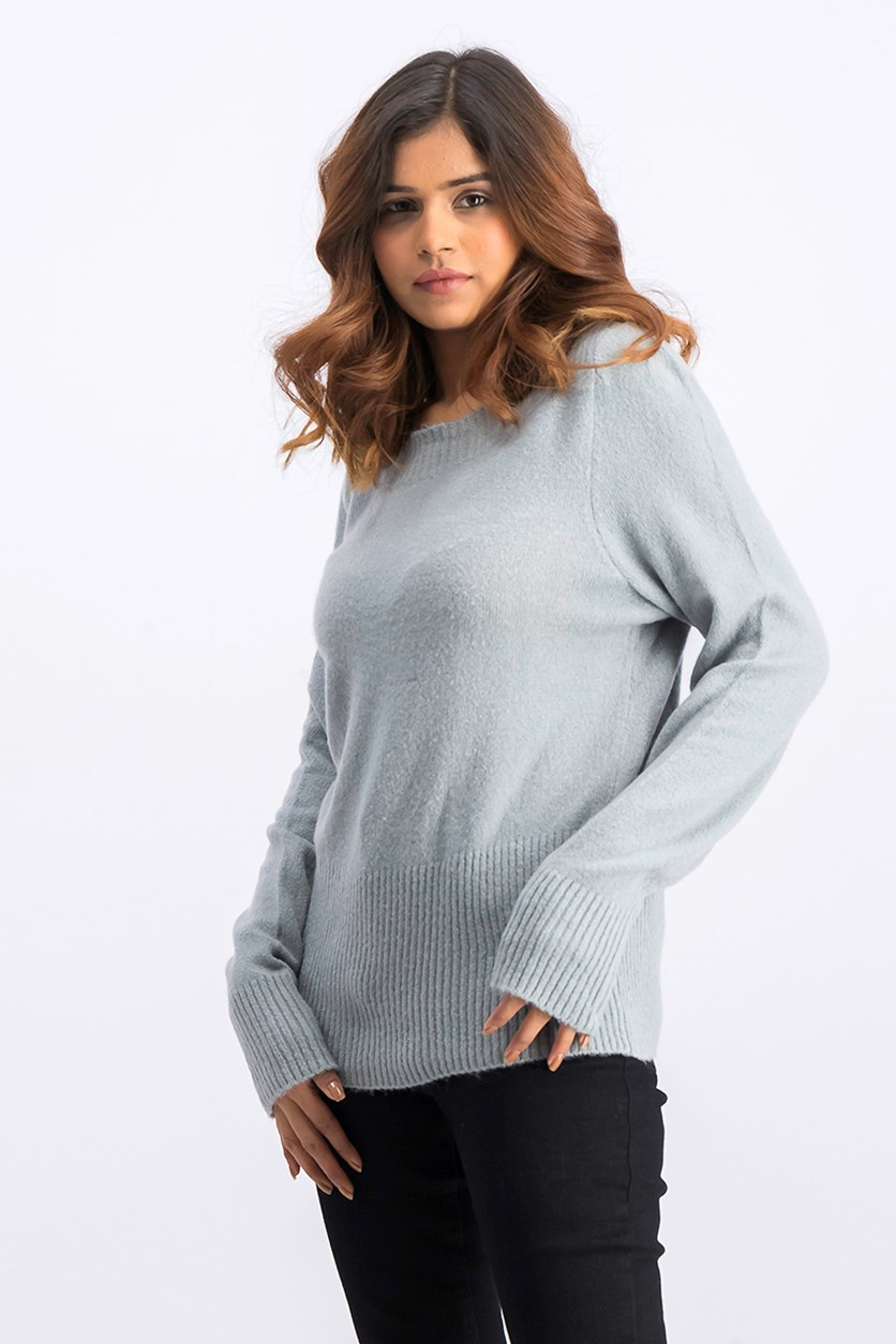 Women's Sweater, Dusty Blue