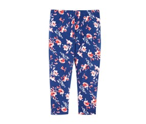 Toddler Girl's Splendid Floral Leggings, Navy Blue