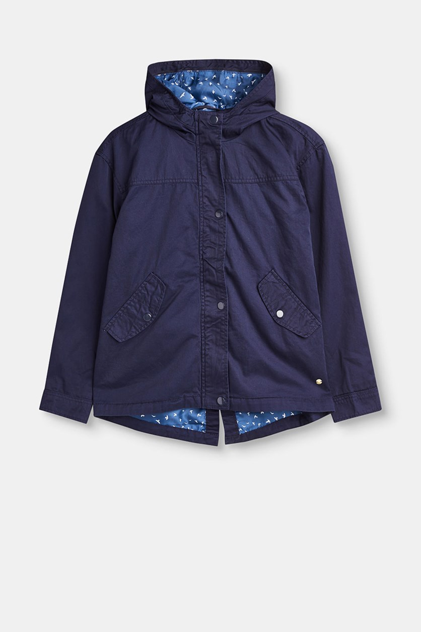 Big Girls Outer Jacket, Navy
