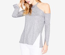 Rachel Roy Women's Long-Sleeve Shoulder-Cutout Sweater, Grey