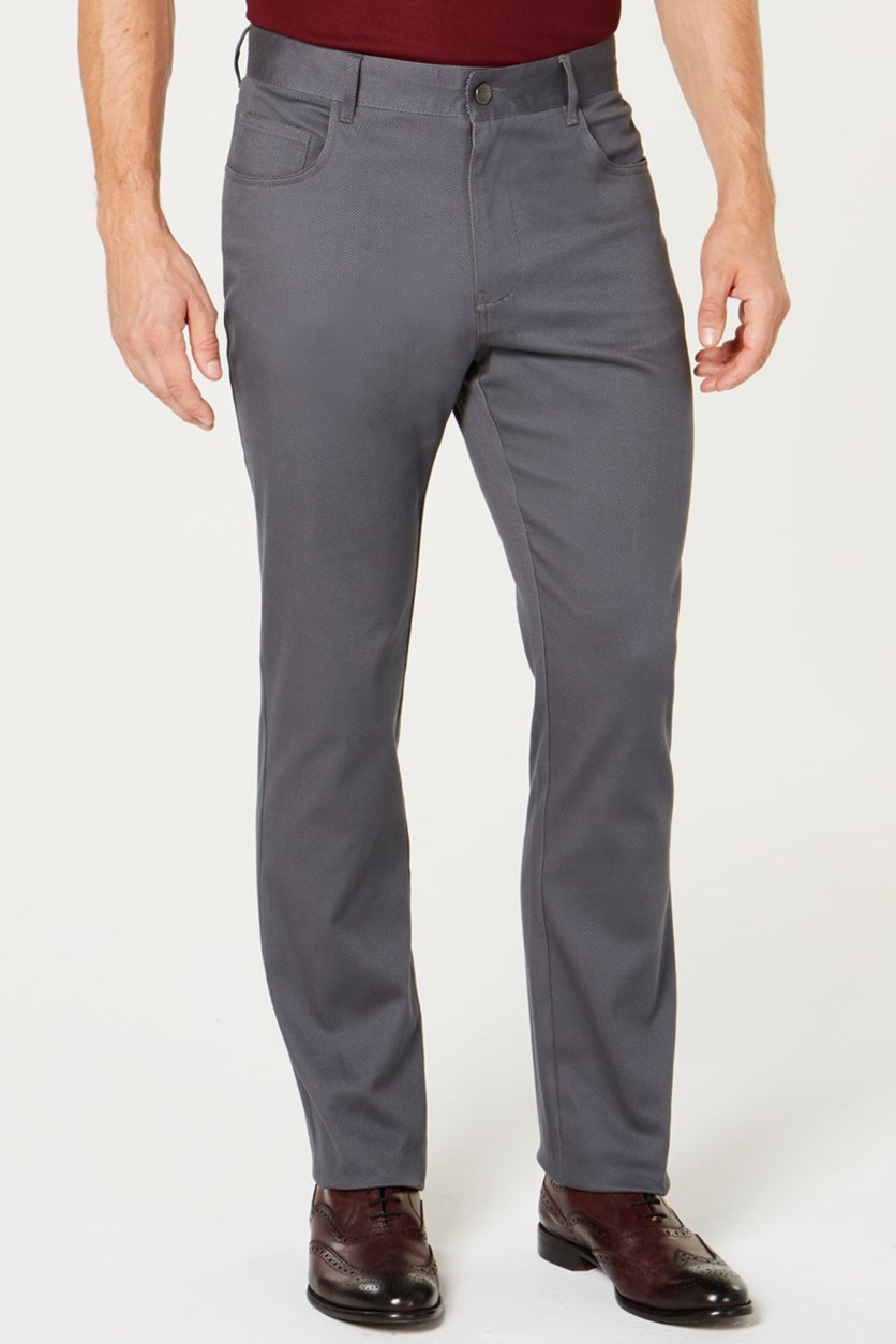 Men's Cross Hatch Pants, Charcoal