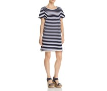 BeachLunchLounge Striped Tee Dress, Navy