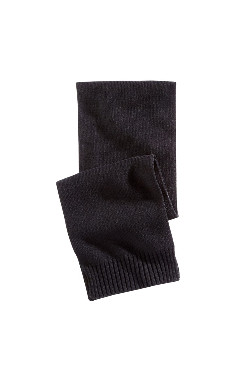 Men's Rectangle Scarf, Black