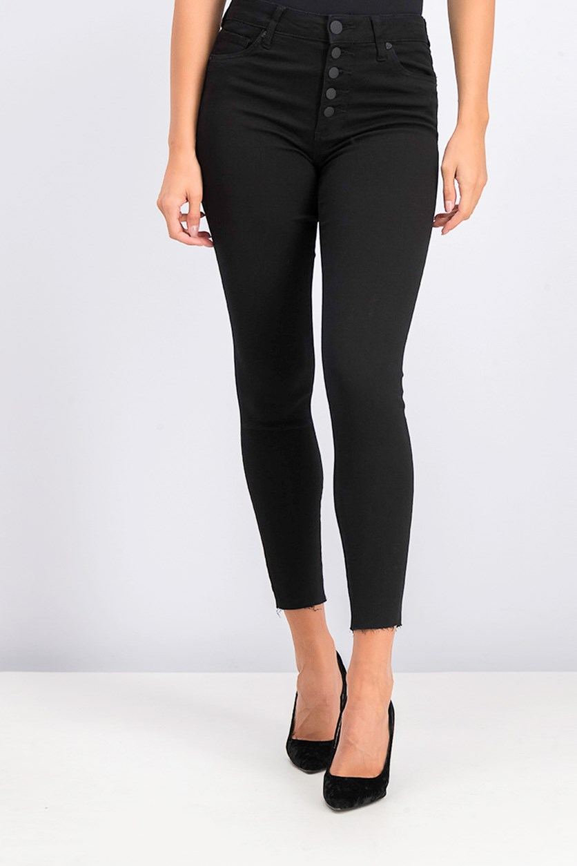 Women's High Rise Ankle Skinny Jeans, Black