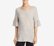 Women's Cotton Bell Sleeves T-Shirt, Wash Gray