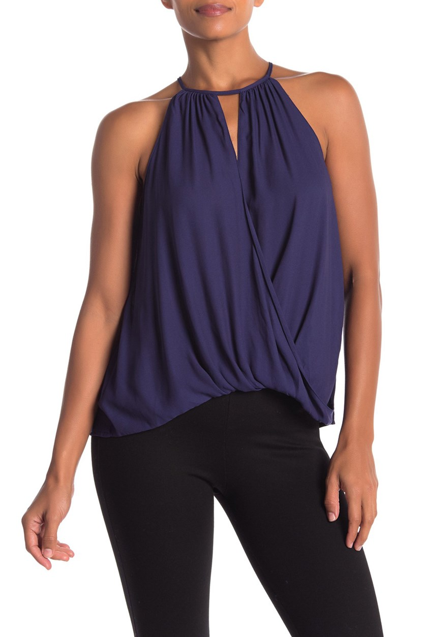 Women's Surplice Sleeveless Blouse, Eclipse