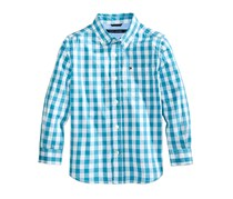 Tommy Hilfiger Boy's Ryan Gingham Shirt, Blue Moon