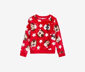 Kid's Girl Sweater, Red