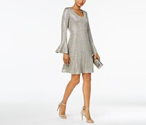 Connected Apparel Women' s Party Dress, Silver