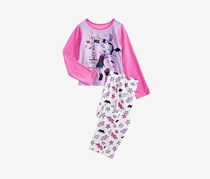 Toddlers Girls Vampirina Print Top & Pants Pajama Set, Purple/White