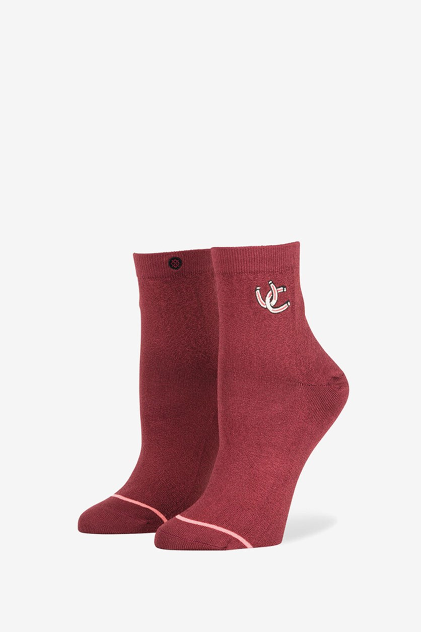 Women's Moonrider Socks, Burgundy