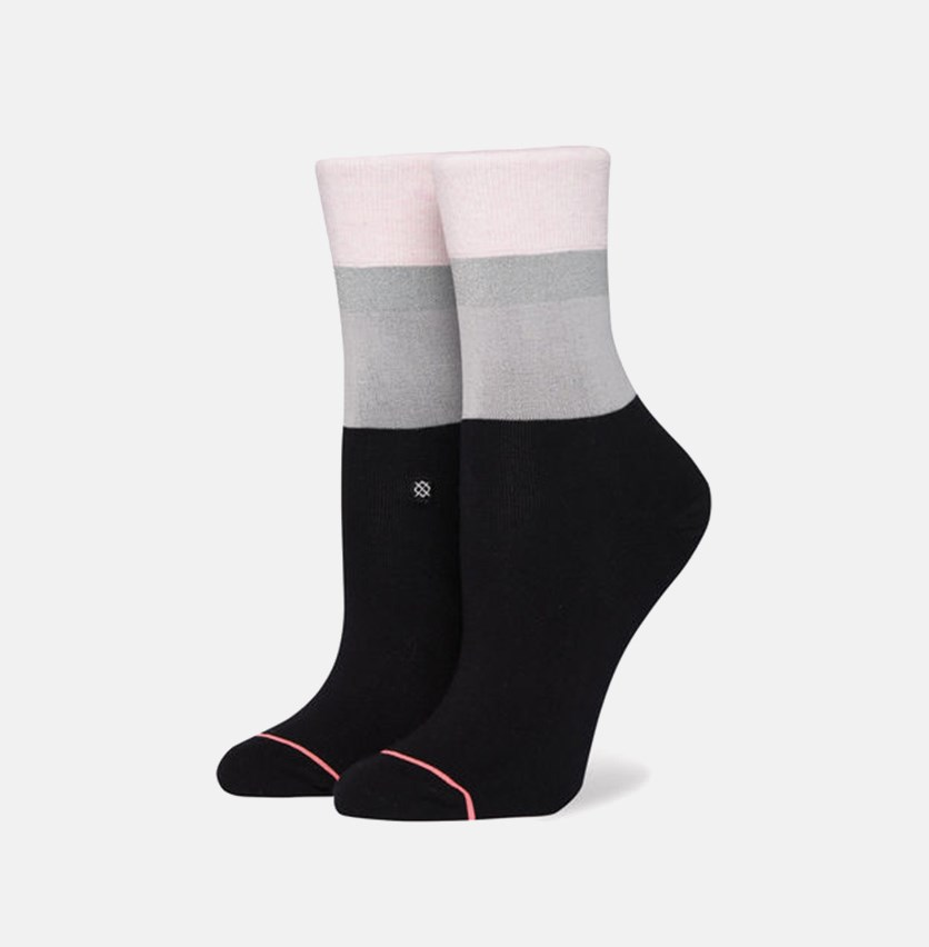 Women's Cara Crew Socks, Black Combo