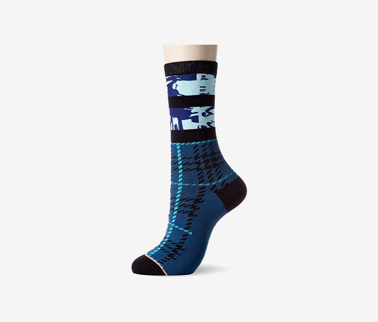 Women's Greenpoint Socks, Blue Combo