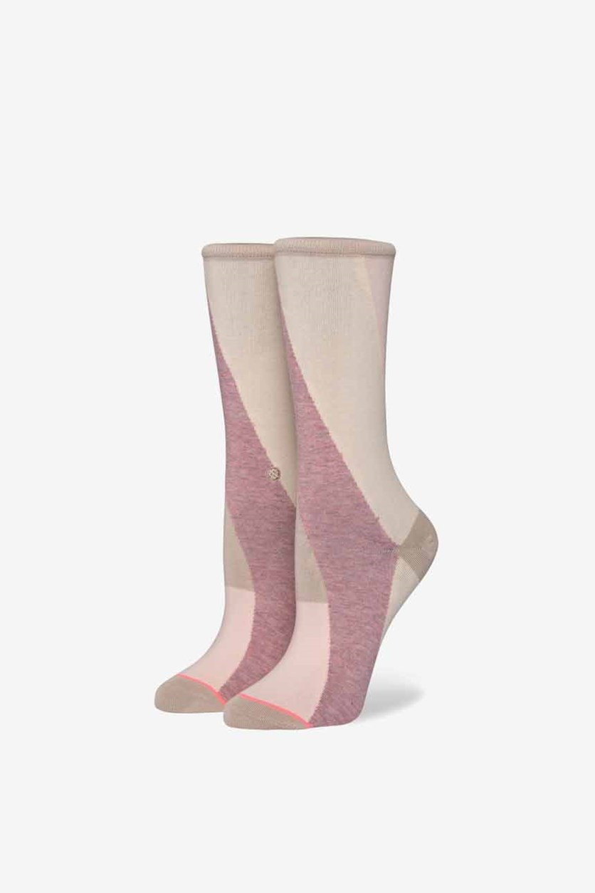Women's Retrograde Socks, Pink Combo