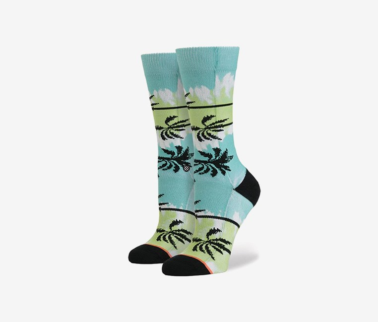 Venice Womens Socks, Lime Combo