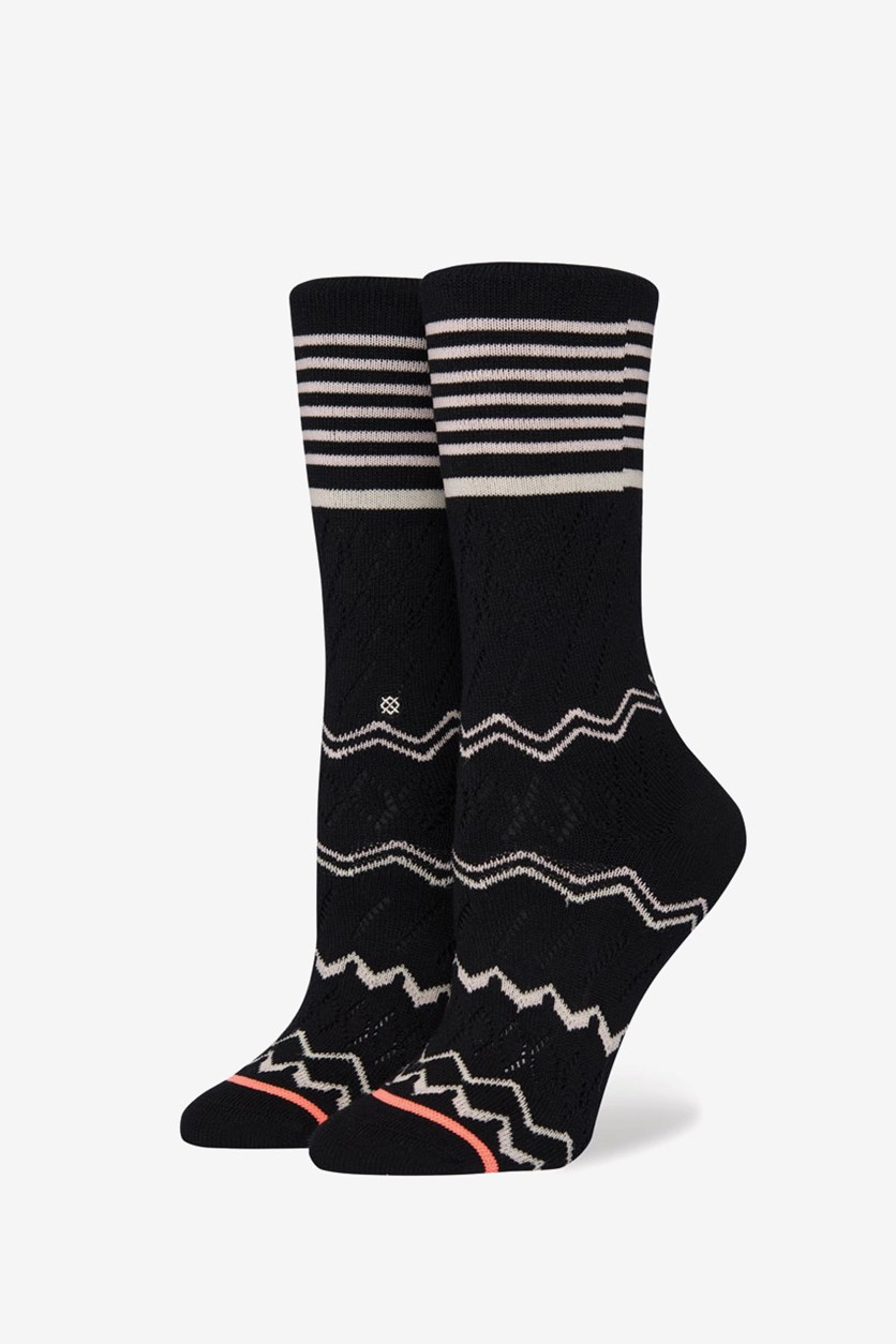 Women's Mercer Crew Socks, Black