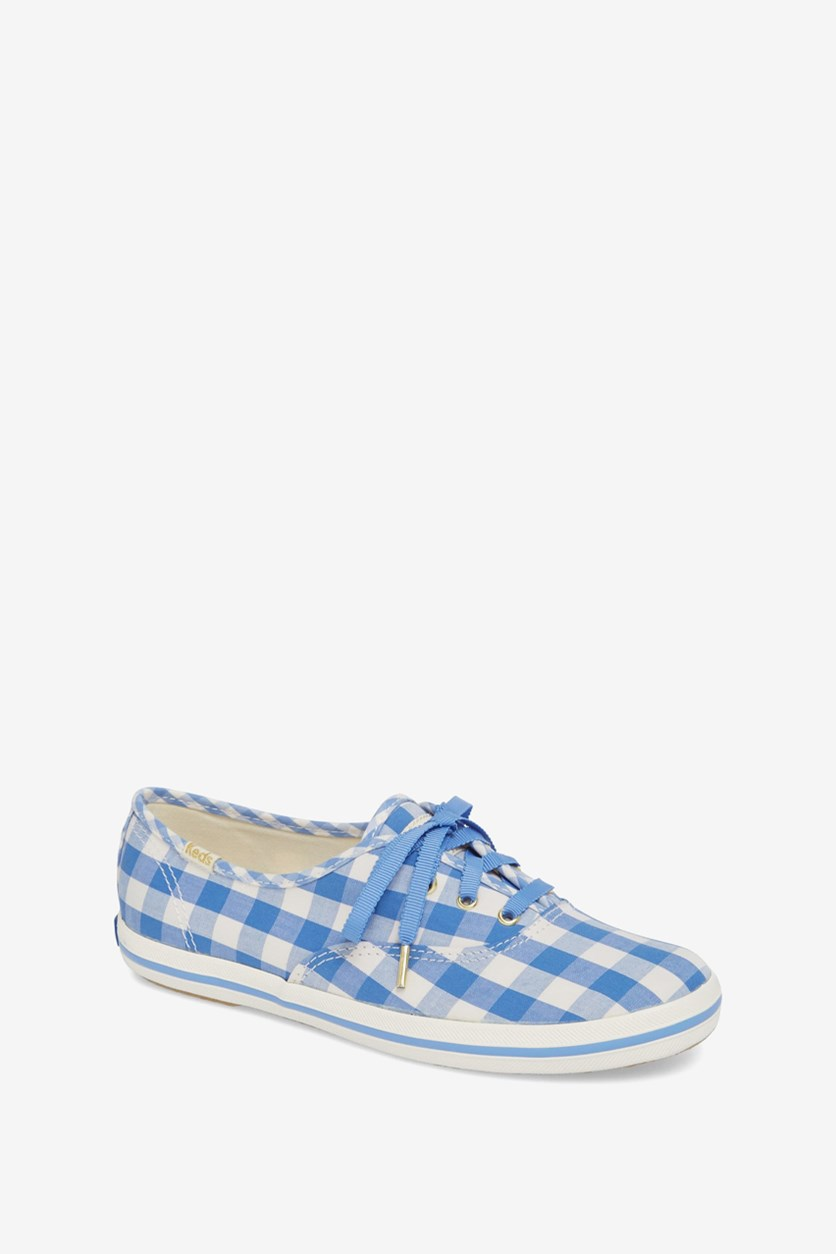 X Kate Spade New York Women's Champion Gingham Sneakers, Blue/White