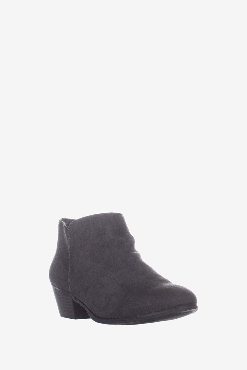 Women's Wileyyf Faux Suede Ankle Booties, Charcoal