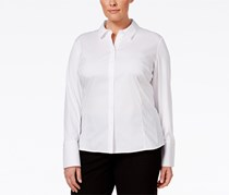 Calvin Klein Women's Solutions Wrinkle-Resistant Shirt, White