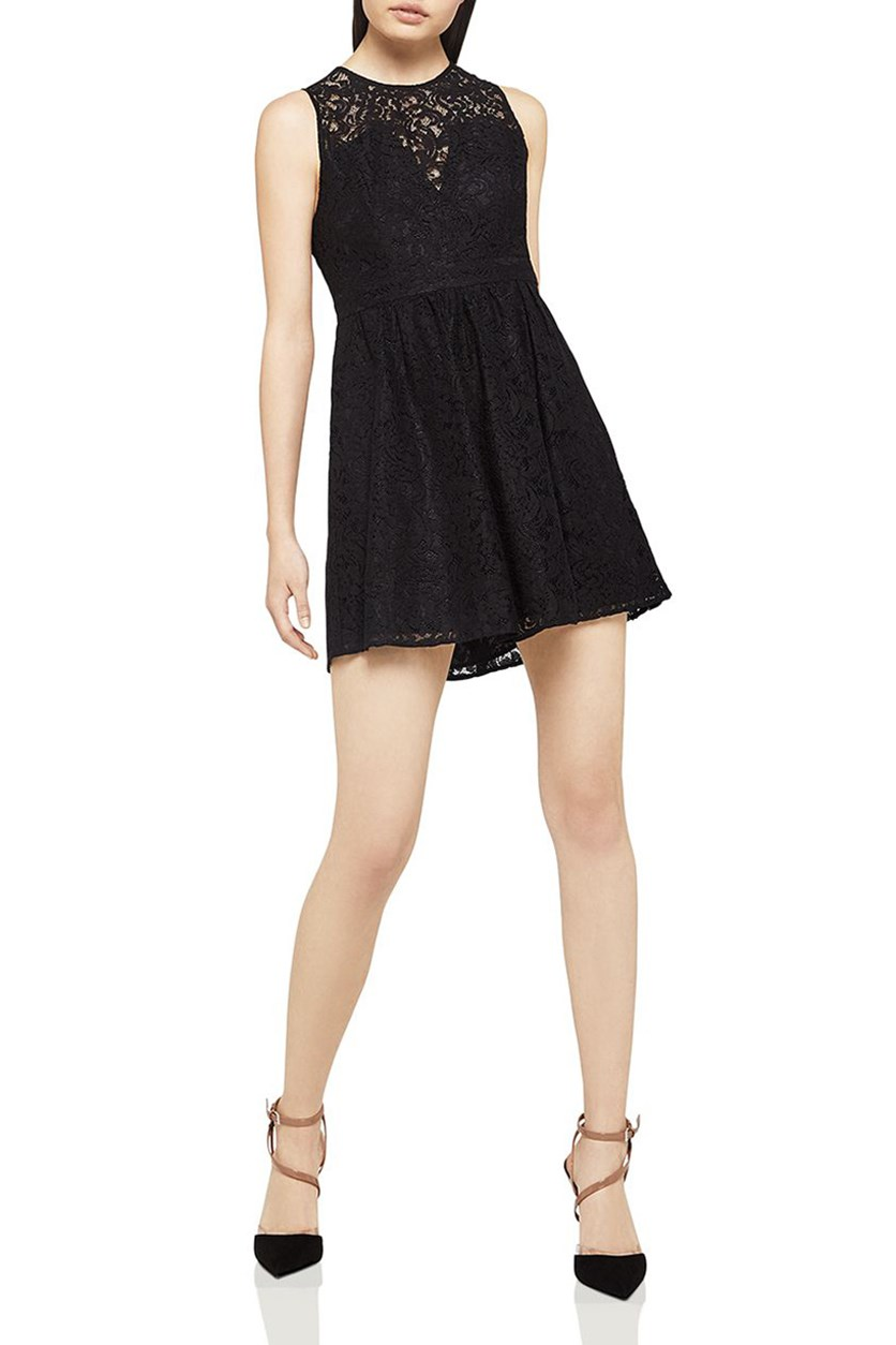 Womens Party Lace Cocktail Dress, Black