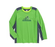 Adidas Boy's Graphic-Print Training T-Shirt, Green
