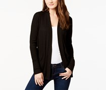 Michael Kors Women's Ribbed Knit Cardigan Sweater Top, Black