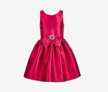 Pink & Violet Big Girls Bow-Trim Satin Dress, Red