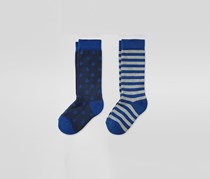 Boys Striped Knee-highs with cotton, 2 pairs