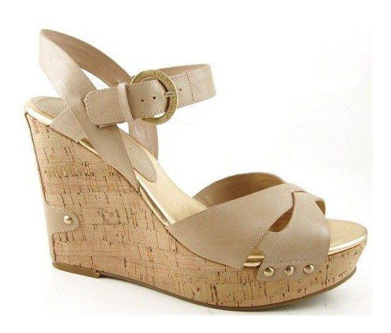 s halina designer shoes cork platform wedges