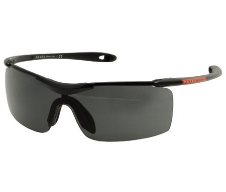 Shop Prada Prada Men S Prada Logo Plate Black Sport Sunglasses For