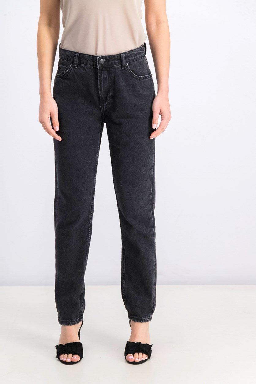 Women's Five Pocket Jeans, Denim Black