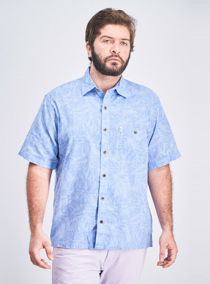 Men's Short Sleeve Shirt, Blue
