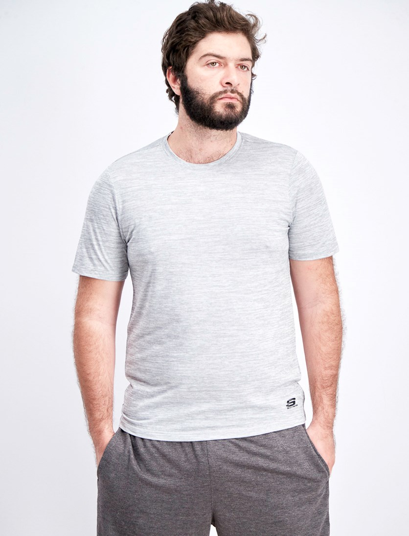 Men's Spce Dye Crew Tee, Griffin Grey