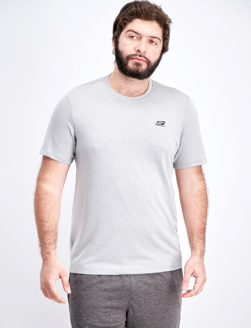 Men's Soft Terry Tee, Light Grey Heather