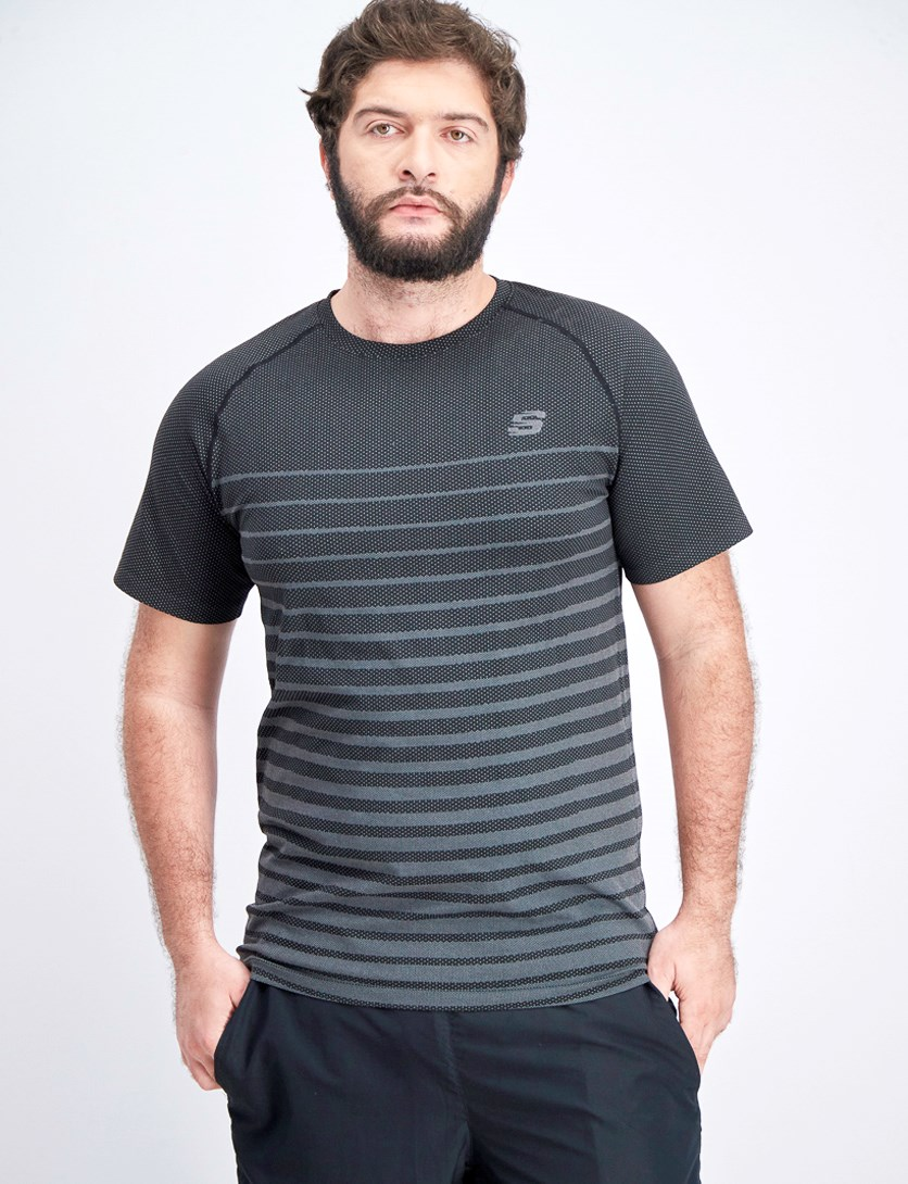 Men's Flax Seamless Tee, Black