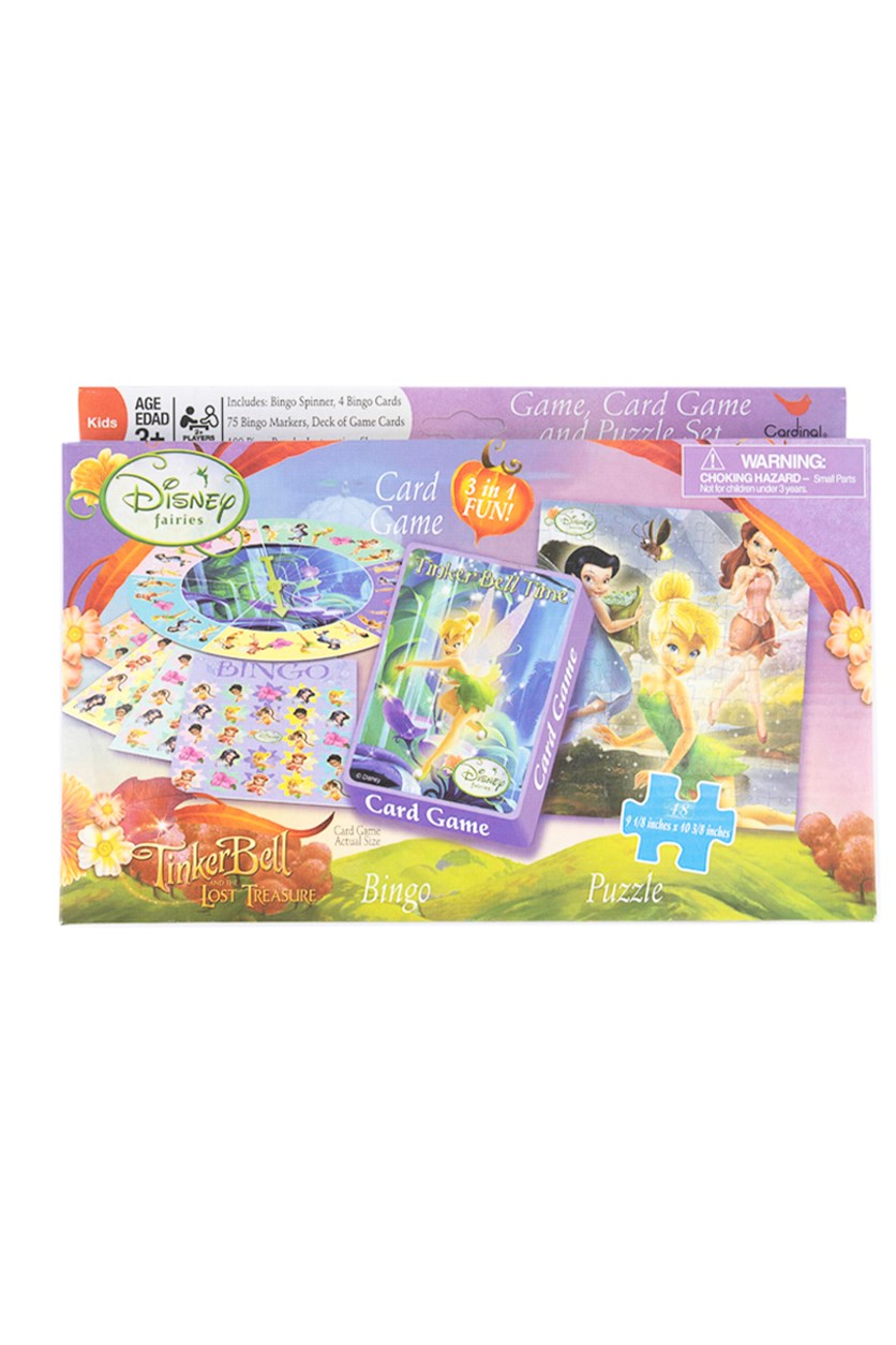 3 in 1 Fun TinkerBell And the Lost Treasure Game, Purple/Pink