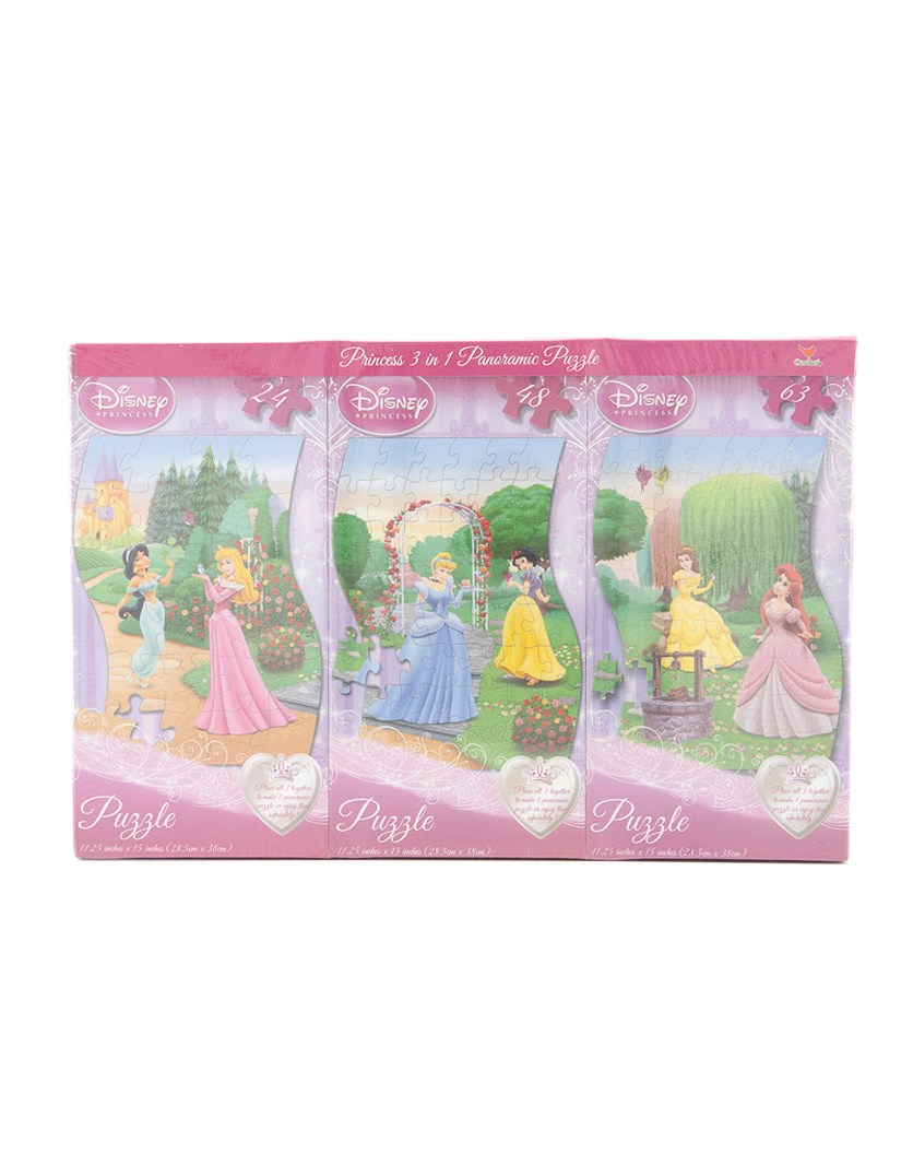 3 in 1 Panoramic Puzzle Set, pink Combo
