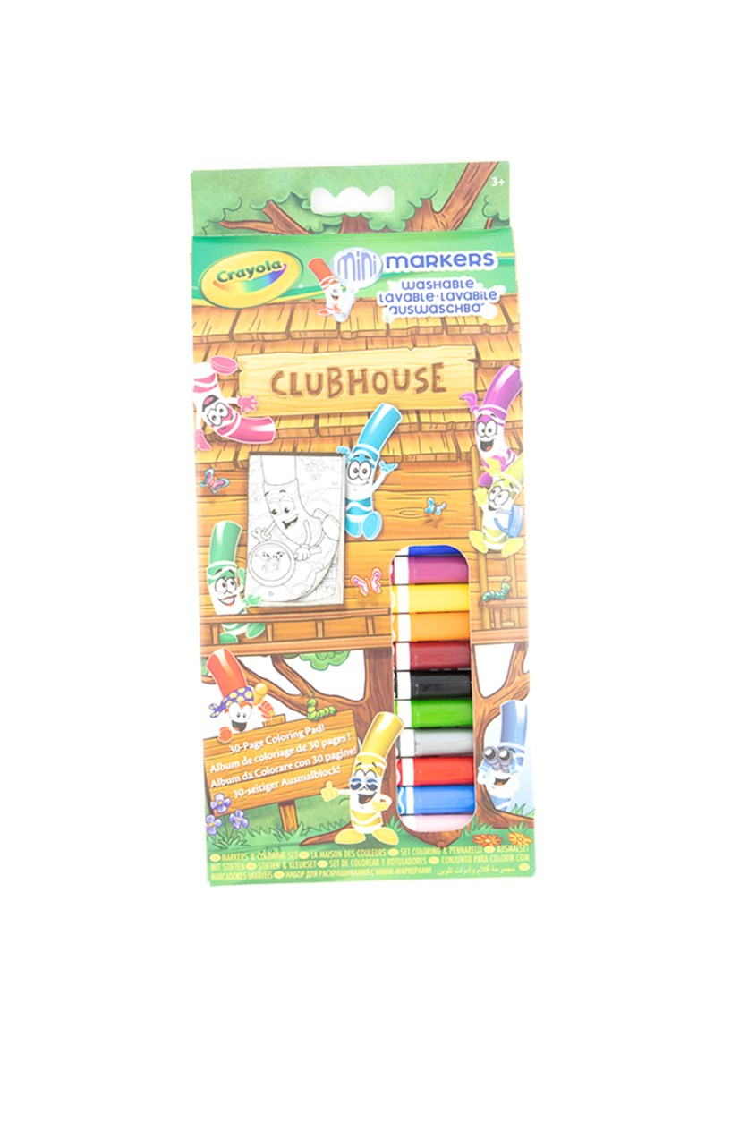 Pipsqueaks Clubhouse Markers Colouring Set, Brown/Green