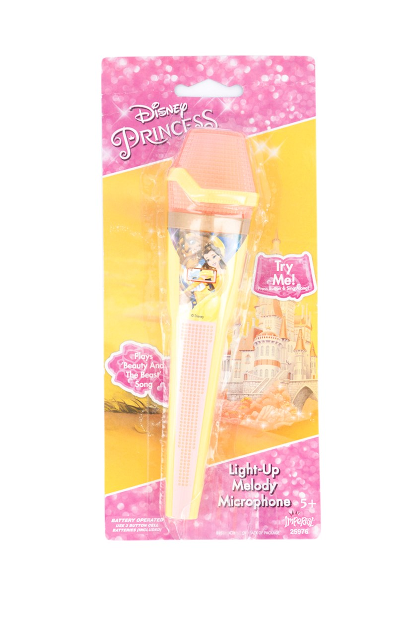 Beauty and The Beast Light Up Melody Microphone, Yellow/Pink