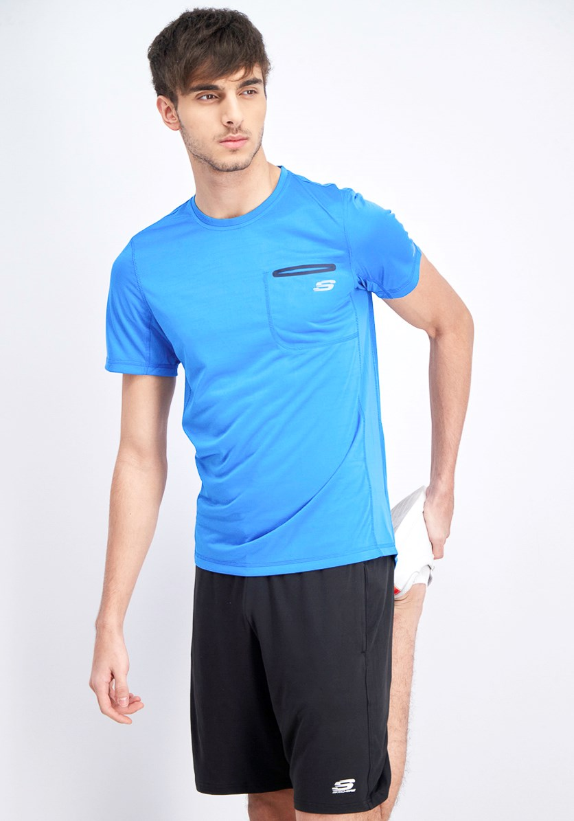 Men's Shortsleeves Jaguard Tee, Brilliant Blue