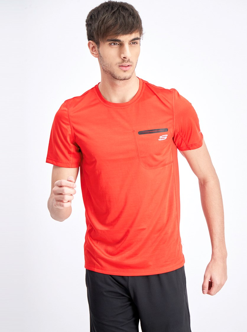 Men's Shortsleeves Jaguard Tee, Flame Scarlet