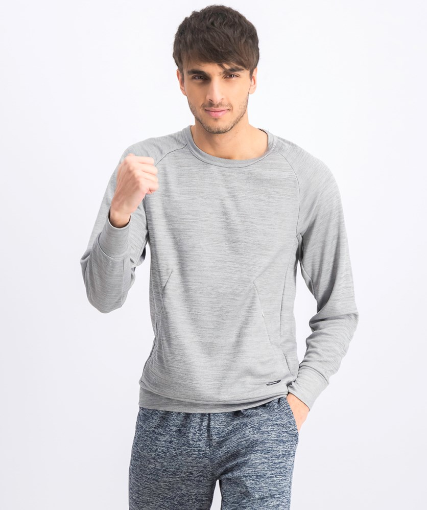 Men's Space Dye Pullover, Steel Grey
