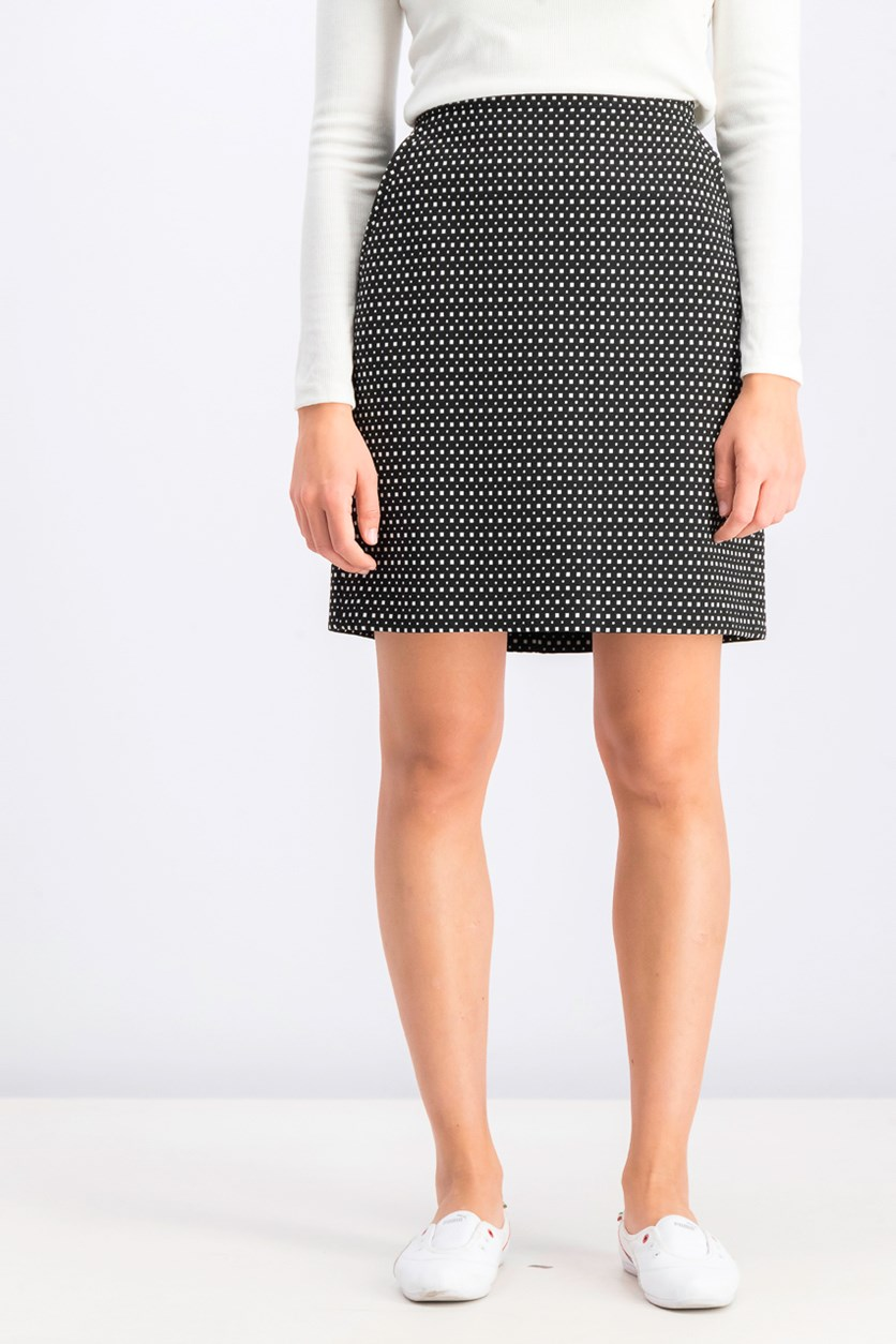 Women's Jacquard Skirt, Black/White