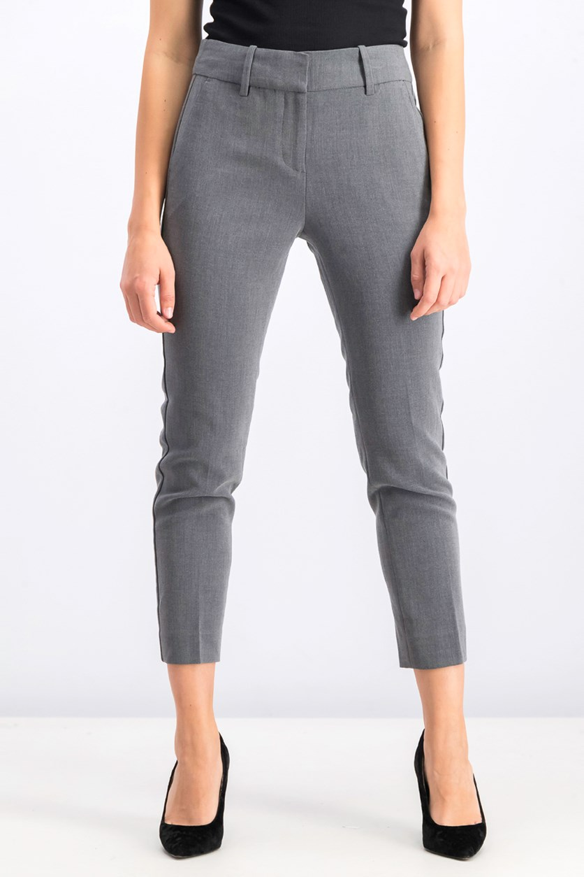 Women's Modern Fit Comfort Stretch Ankle Pant, Grey
