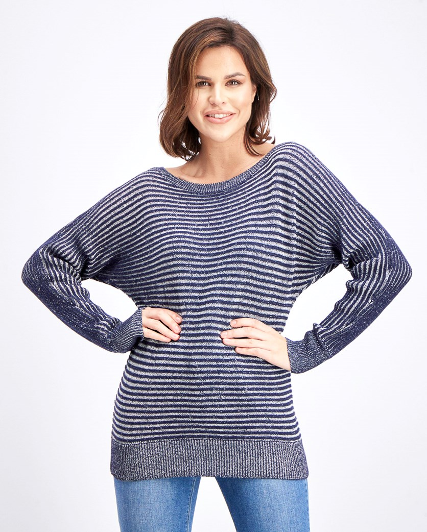 Women's Long Sleeve Sweater,  Navy