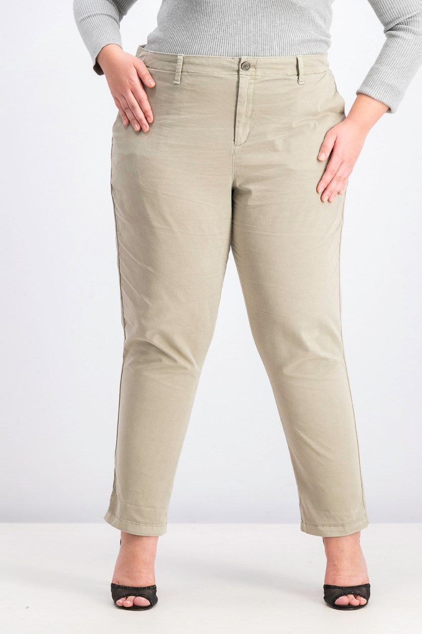 Women's Girlfriend Chino Pants, Taupe