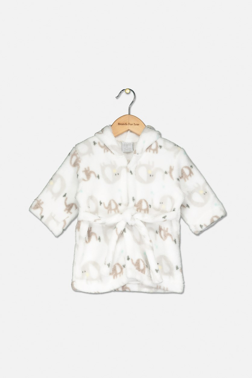 Baby Girls Animal Print Robes, Ivory