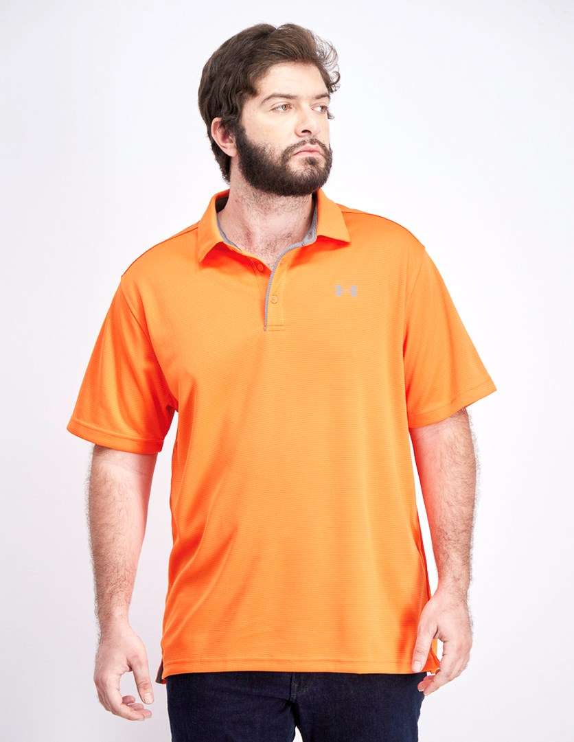 Men's Tech Polo Shirt, Orange