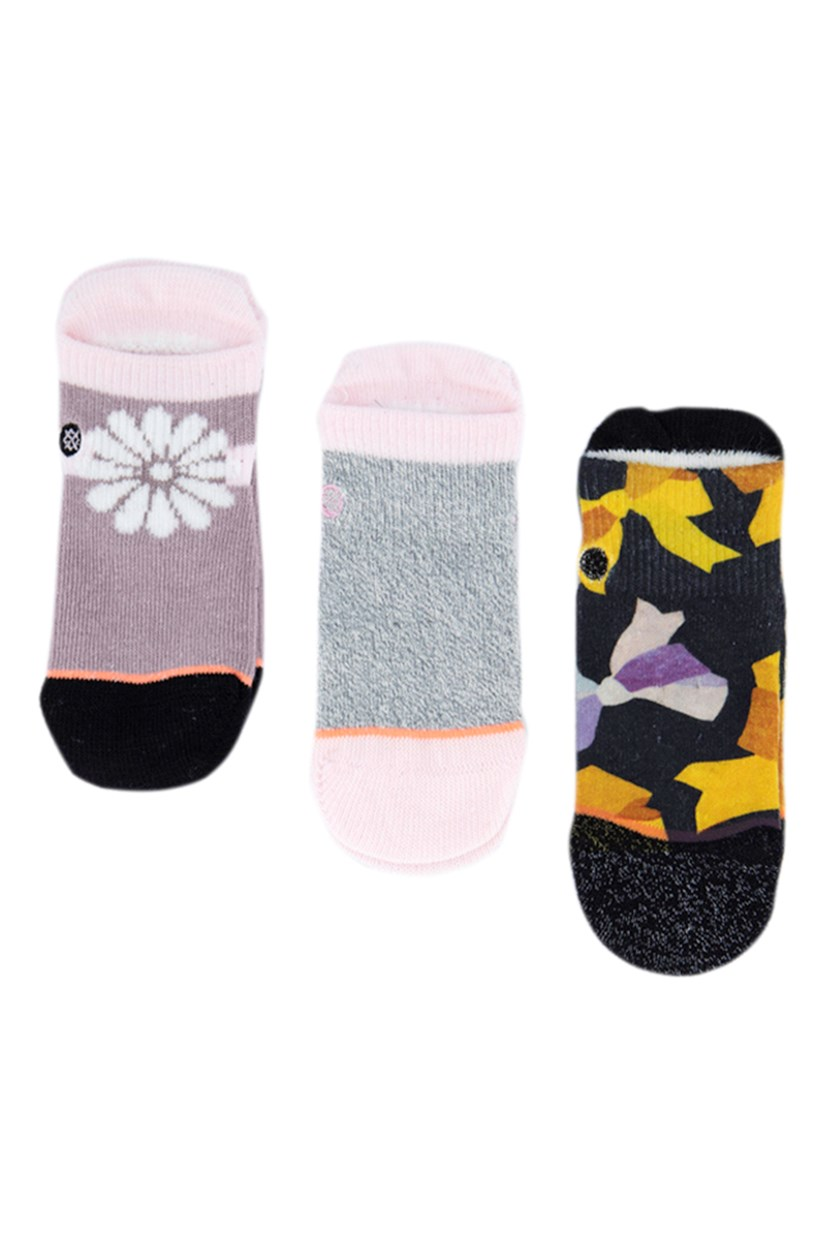 Toddler Girl's 3 Pairs Socks, Pink/Navy